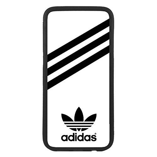 Funda Carcasa de móvil para Samsung Galaxy j7 (2016) Logotipo Adidas Logo Rayas TPU Borde Negro