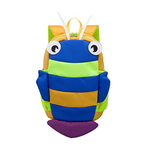 TINKSKY Cute Kindergarten Backpack Cartoon Patterned Kids School Satchel Shoulder Bag for Boys Girls (Deep Yellow)