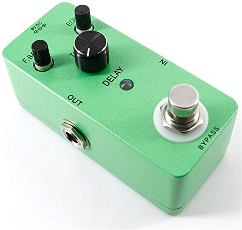 Guitar Effect Pedal Guitar Effect Processor Guitar Effect Pedal Mini Compact Size Delay Guitar Effect Pedal True Bypass With Adapter Guitar Tuning Accessories (Color : Green, Size : Free Size)