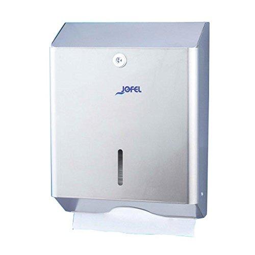 Jofel AH14000 Clásica Dispensador de Toallas de Manos, Zig-Zag, Inox Satinado