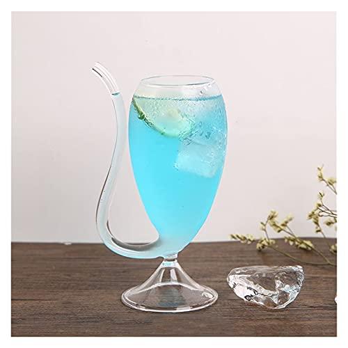LINMAN Vino Whisky Copa de Cristal Transparente Resistente al Calor Vidrio Chupado Jugo Leche Taza Té Té Vino Copas Coctel Beber Gafas Canecas (tamaño : 200ml)