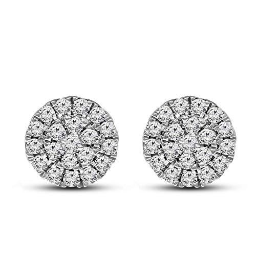 IGI Certified Lab Grown Diamond Earrings 925 Sterling Silver