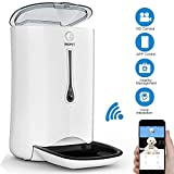 WOPET SmartFeeder,Automatic Pet Feeder Stainless Steel Bowl,Auto Dog Cat Feeder with Timer Programmable,Portion Control,HD Camera Voice Recording,Controlled by Smart Phone with WiFi