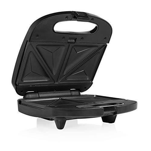 Tristar SA-3070 Sandwichera 3 en 1, con revestimiento antiadherente, compartimento para cable, 800 W, Plástico, plata y negro