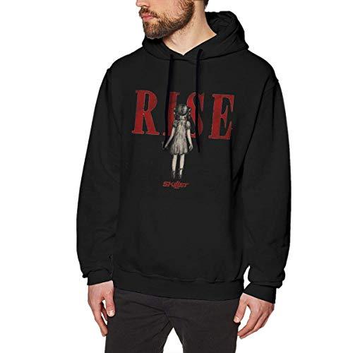 Preisvergleich Produktbild Qeely Mit Kapuze Sweatshirt-Bratpfanne der Art- und Weisemänner mit Pullover Erwachsenes Sweatshirt