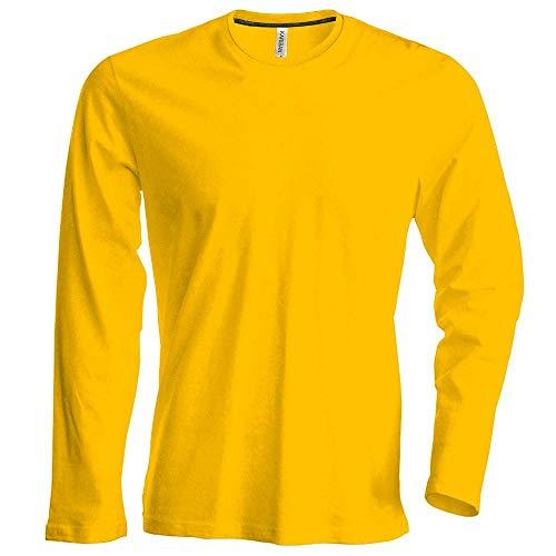 Herren T-Shirt langarm von notrash2003 (L, Gelb)