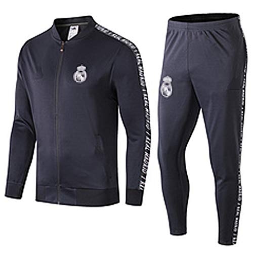 XVVX 2021 Rěǎl MǎDrǐd Camiseta para Hombre Jersey de fútbol Set de Manga Larga Pantalones para Arriba Casual Sportswear Team Training Uniform, Ball Competitive Game Favor S