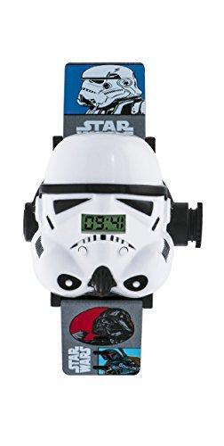 Star Wars Infantil Reloj con Esfera Blanca Pantalla Digital y Multicolor Cinta...