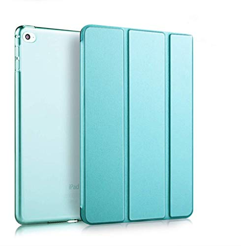 "Flyeglee Ipad Mini 5 Smart case: Front Cover Smart Sleep/Wake, TPU Soft Side Hard Shell Ultra-Thin Transparent, Reinforced Anti-Fall, Suitable for ipad Mini 5 7.9"" 2020, Blue."