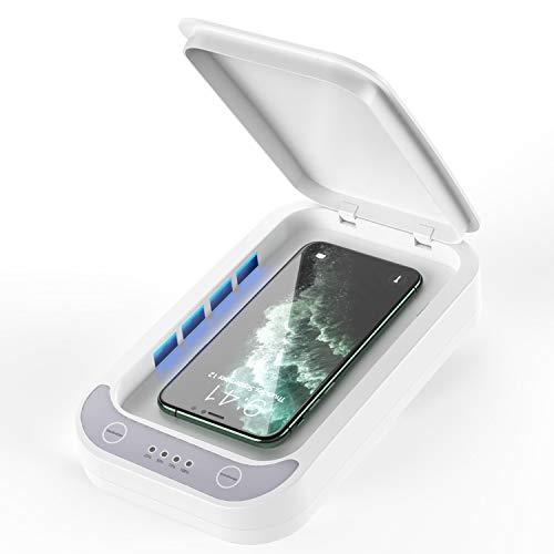 UNIIKE T/él/éphone Portable st/érilisateur UV lumi/ères Portable Smartphone Universal Sanitizer Phone Cleaner Portable USB de Charge pour Tous Les t/él/éphones cl/és Lunettes Cleaner Case