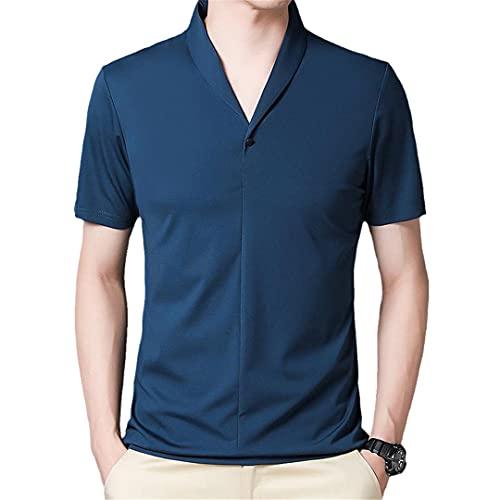 Casual de manga corta de los hombres de la camiseta de verano sólido camiseta Streetwear camisetas