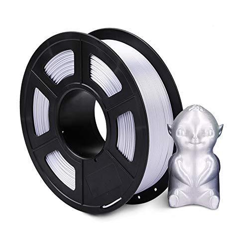 TongGuo 1.75mm PLA SILK Rainbow 3D printer Filament tangle free 100% no bubble with Vacuum bag packing Tolerance +/-0.02mm (Color : SILK SV 1KG)