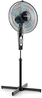 Oneconcept - Black Blizzard 2G, Ventilador de pie, Función giratoria de oscilación, Silencioso, Rotor con 5 aspas, 40.6 cm de diámetro, 3 Niveles de Velocidad, 50 W, Negro
