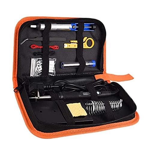 Kit del Soldador, Soldadura de Hierro 60W Temperatura Ajustable con Pantalla LCD con Pinzas de la Bomba de desoldadura