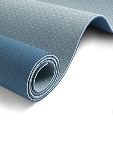 Esterilla De Yoga para Entrenamiento Esterilla para Ejercicios De Yoga De Doble Cara Antideslizante De Alta Densidad EcolóGica para El Hogar Pilates para Ejercicios En El Suelo Esterilla para