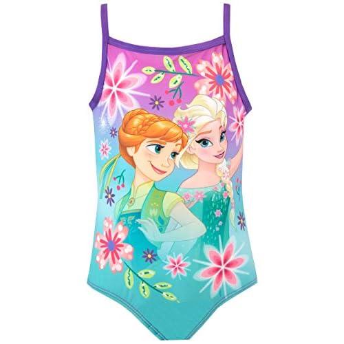 Disney Costume da Bagno per Ragazze Frozen Viola 3-4 Anni