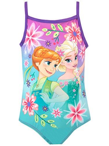 Disney Mädchen Badeanzug Frozen - Die Eiskönigin Violett 110