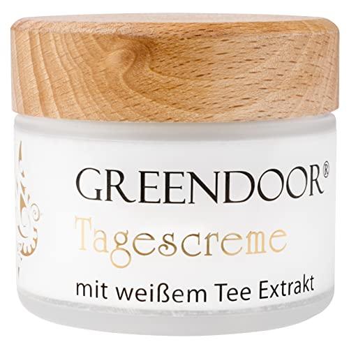 GREENDOOR Tagescreme Frauen weißer Bio-Tee 50ml, schützende natürliche Tagespflege ohne...
