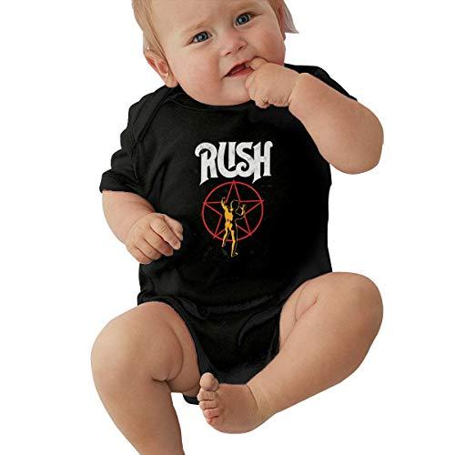 EVE JOHN Rush Band Logo Baby Boy Romper Soft Black 6M
