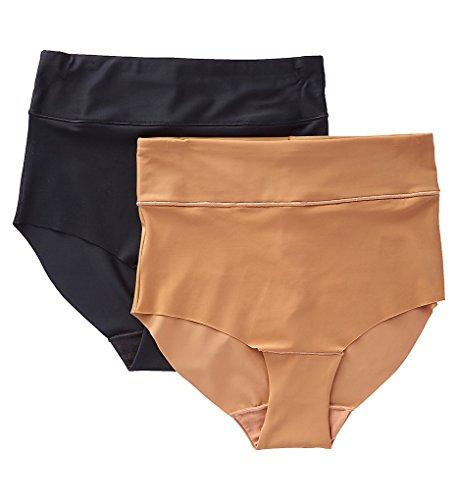 Jones New York Laser Cut 2 Pack Brief Panties (765208) M/Dark Nude/Black