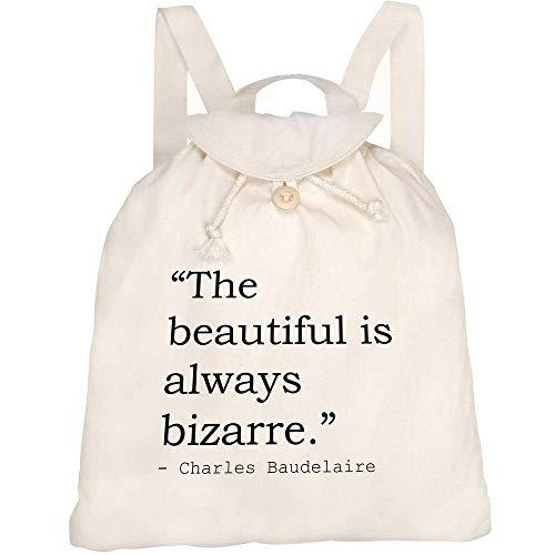 Azeeda Art Quote By Charles Baudelaire Canvas Rucksack / Backpack (RK00008432)