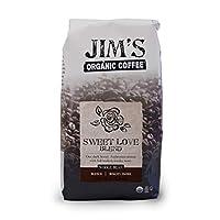 Jim's Organic Coffee - 全豆のコーヒー甘い愛ブレンド - 11ポンド