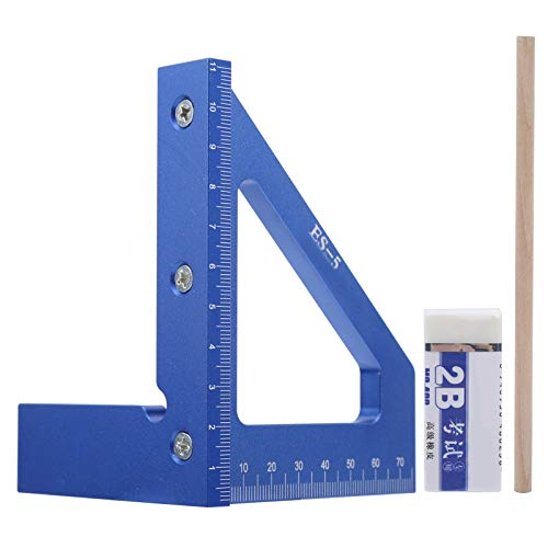EVTSCAN, el último medidor de línea azul, aleación de aluminio de alta precisión, trazador de ángulo ligero, trazador de ángulo de 45 grados para trabajos manuales de carpintero