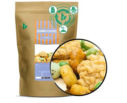 3 x 200g Wasabi Cracker Mix scharf fettarm mit Reiscracker Erbse und Erdnuss