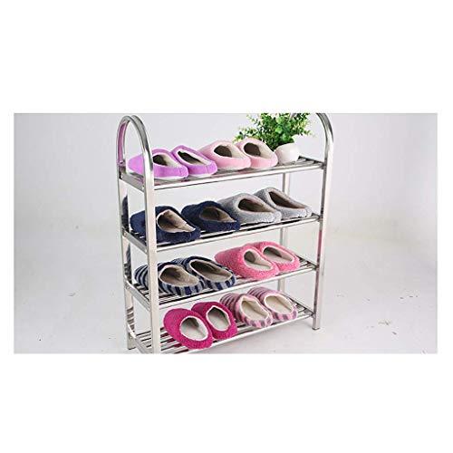 HONYGE LXGANG - Zapatero de acero inoxidable para zapatos de múltiples capas de combinación simple de zapatos de espesamiento de zapatos de almacenamiento para el hogar