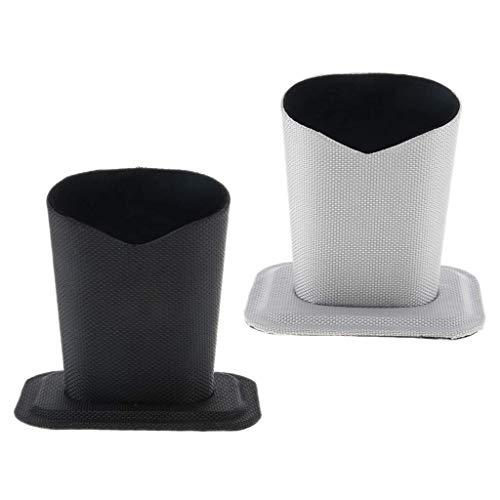 Nigoz - Juego de 2 soportes para gafas, funda vertical para gafas con forro de tela suave, antiarañazos, funda protectora para el hogar, oficina, escritorio, alta calidad