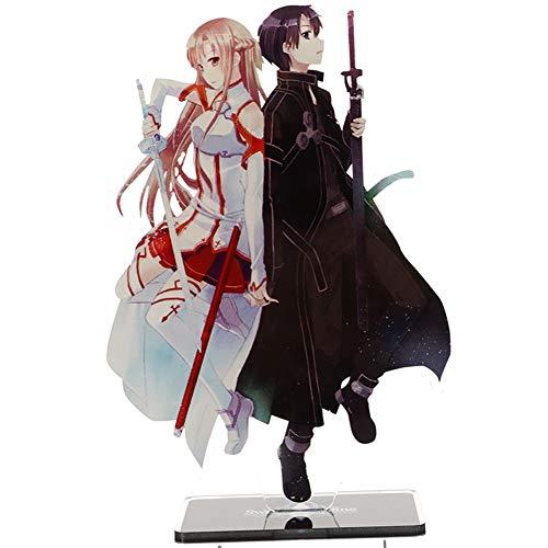 SGOT Sword Art Online Figur, Acryl Anime Figur, Desk Stand Dekoration, Vinylfigur Actionfigur Sammelfigur 15cm( H04)