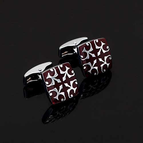 jiao Fashion Emaille rot Emaille Manschettenknopf für Herren Shirt Markenanzug Manschettenknöpfe Manschettenknöpfe Schmuck