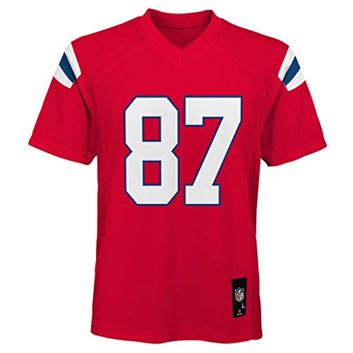 Outerstuff Rob Gronkowski New England Patriots #87 Red Youth 8-20 Mid Tier Alternate Jersey (Large 14/16)