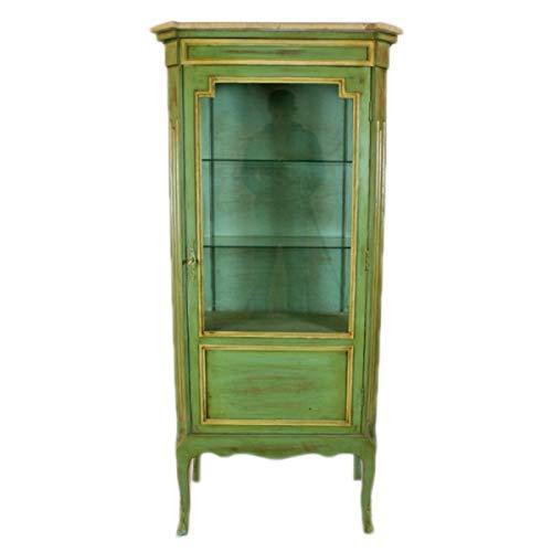 Casa Padrino Barock Vitrine Antik Stil Grün/Gold 160 cm - Vitrinenschrank - Wohnzimmer Schrank - Antik Stil Möbel