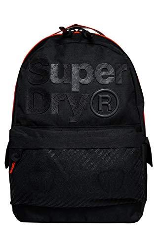 Superdry Herren B Boy Montana Rucksack, Schwarz (Black), 30x45x13 cm