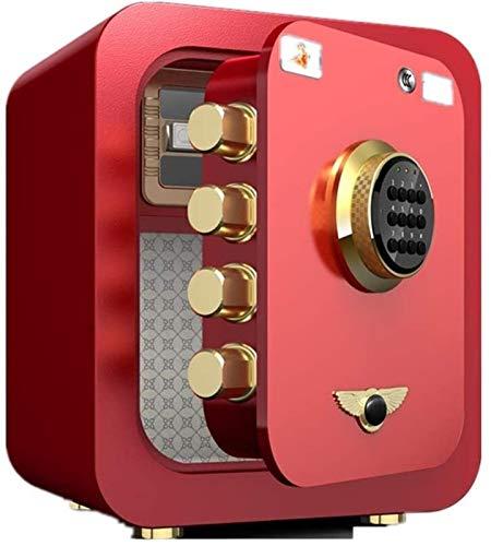 CHUXJ De Seguridad Alta Seguridad Acero Fuerte De Pared Safe De Seguridad Mini Hotel Seguro Oficina OUso Doméstico Caja Se Pueden Huella Digital más contraseña Rosa, Rojo 45 * 40 * 34 cm