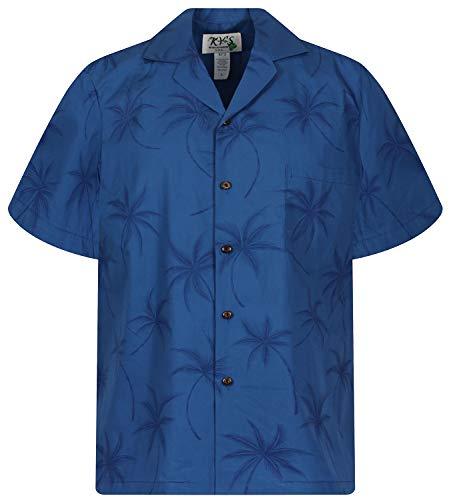 KY's Original Hawaiihemd, Palm Shadow, Türkis, M