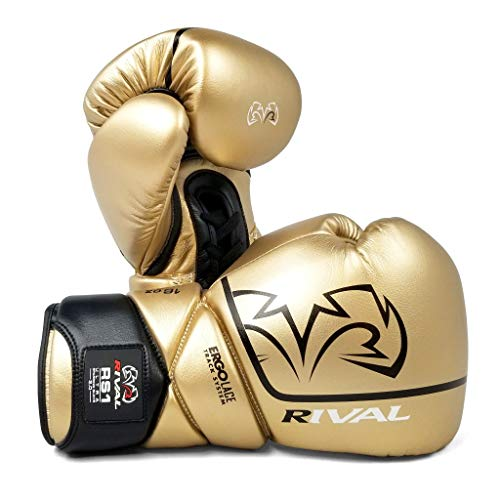 Guanti da boxe Rival RS1 Ultra Sparring 2.0 Gold Boxing Striking Training, Oro, 18 oz