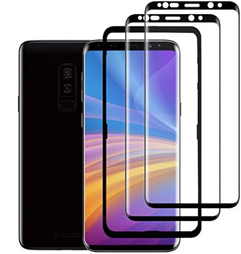 SAMTZR S9 Plus Vetro Temperato Pellicola Protettiva[2Pack][Posizionamento] Durezza 9H/AntiGraffio/Ultra-Trasparente/S9 Plus Screen Protector per Samsung Galaxy S9 Plus