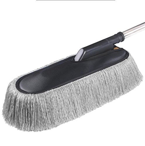 Brosse de cire de voiture Cire de soins de la fibre de cire brosse de voiture de lavage évolutive brosse voiture duster brosse de voiture brosse de cryptage plus longue super fibre , gray