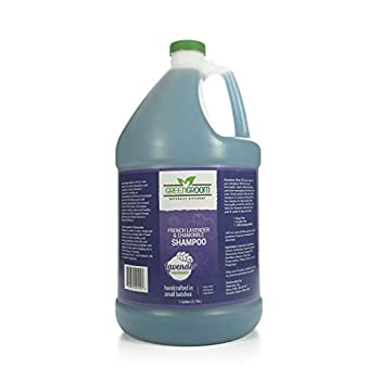 Green Groom French Lavender & Chamomile Aromatherapy Dog Shampoo 1 Gallon - Soothing and Calming Chamomile Infused All Natural Ingredients Soap and Cruelty Free