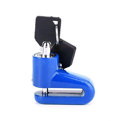 Demeras 1 Unidad de Bloqueo de Freno de Disco Mini antirrobo para Motocicleta, Bloqueo de Rueda de Disco de Seguridad, Bloqueo de Seguridad para Motocicleta con Llaves para Bicicleta(Azul)