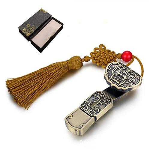 Heman779t Chiavetta USB 2.0 da 4 GB / 8 GB / 16 GB / 32 GB / 64 GB / 128 GB con Nodo Cinese, Confezione Regalo retrò Memory Stick da Viaggio per Dati digitali unità Pollice per archiviazione Dati