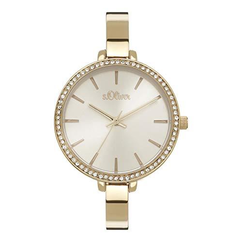 s.Oliver Damen Analog Quarz Uhr mit Edelstahl Armband SO-4207-MQ
