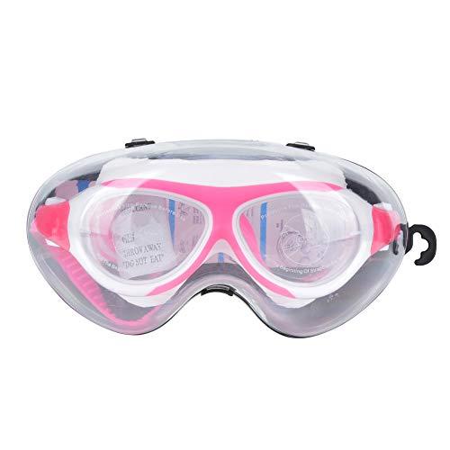 RBSD Gafas de natación, Hildren Gafas de natación Anillo de Silicona Suave Agradable para la Piel Cómodo para niños Que nadan(Pink, Love Type)