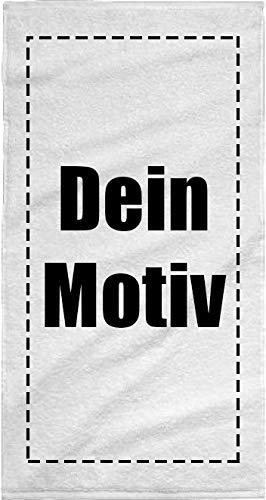 Volkspark Hamburg Streetwear Personalisiertes Handtuch mit individuellem Bild und Text selbst gestalten Weiß 140 x 70 cm