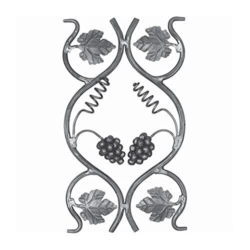 Panneau décoratif 500x285mm diamètre 14mm vigne et grappe raisin
