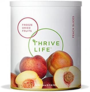 Thrive Life: Freeze Dried Peach Slices - Pantry Can Size