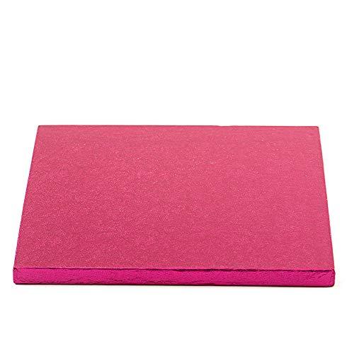 Decora 0931807 Carton pour GÂTEAU CARRÉ Fuchsia 40X40X1,2H, Paper, 40 x 40 x 1,2 cm