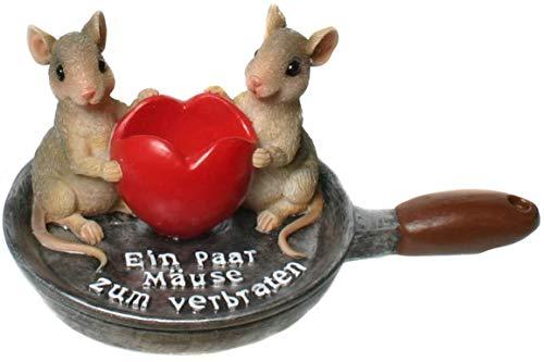 Topshop24you wunderschönes Geldgeschenk, Spardose EIN Paar Mäuse zum verbraten,Mäuse in der Pfanne mit Möglichkeit der Geldscheineinlage
